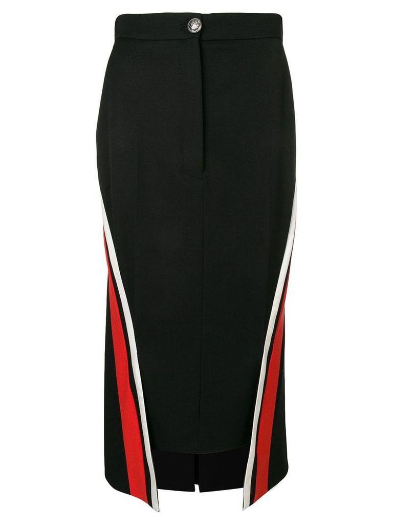 Alexander McQueen side panel pencil skirt - Black