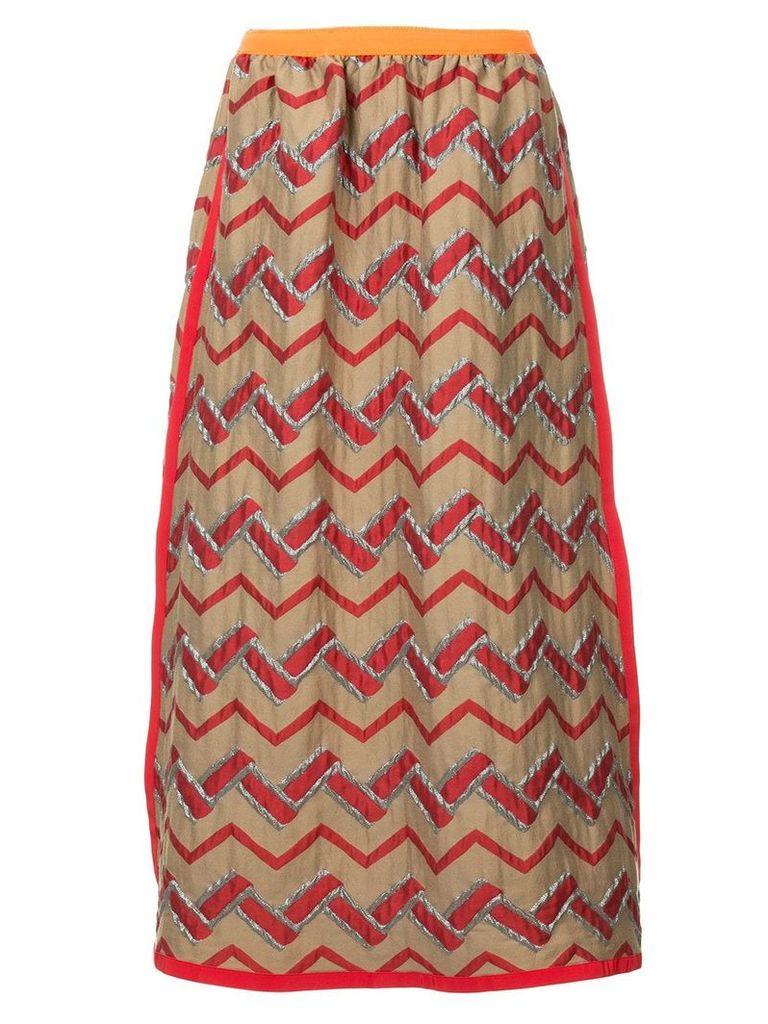 Kolor zig zag skirt - Multicolour