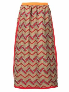 Kolor zig zag skirt - Multicolour