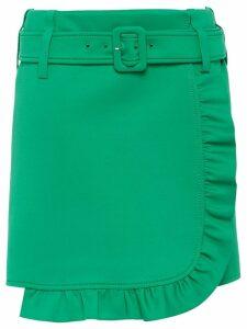 Prada ruffle trimming short skirt - Green