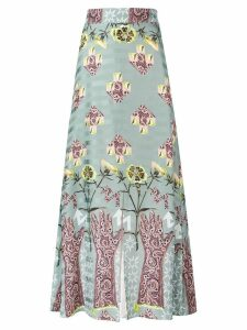 Temperley London Flux midi skirt - Green