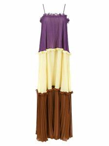 Adriana Degreas long color block dress - Multicolour