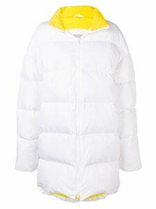 Calvin Klein Jeans Est. 1978 logo print quilted coat - White
