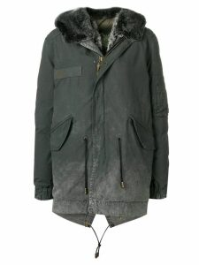 Mr & Mrs Italy printed hooded jacket - Grey