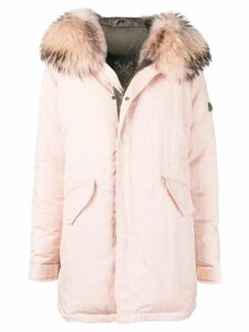 Mr & Mrs Italy fur-trimmed parka coat - Pink