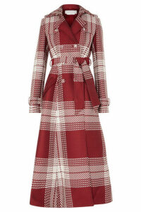 Gabriela Hearst - Checked Wool-blend Trench Coat - Red