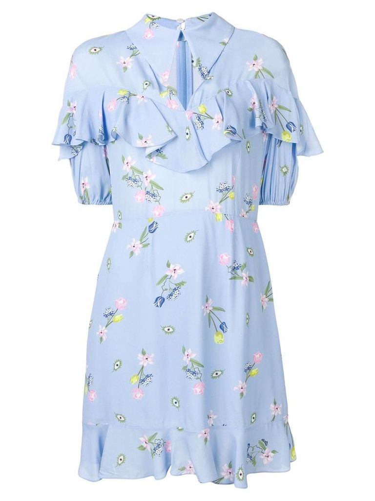 Vivetta floral print ruffle dress - Blue