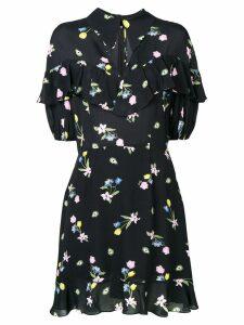 Vivetta floral print ruffle dress - Black