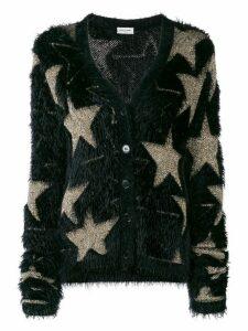 Saint Laurent lurex stars jacquard cardigan - Black