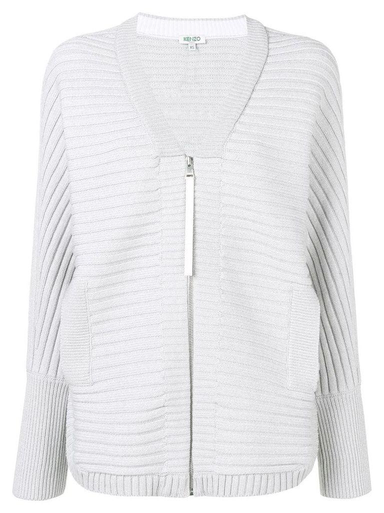 Kenzo ribbed knit cardigan - Grey