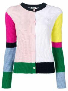 Kenzo colour block cardigan - White