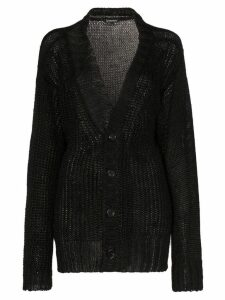 Ann Demeulemeester loose fit knitted cardigan - Black