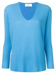 Allude long-sleeve fitted sweater - Blue