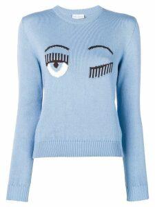 Chiara Ferragni Flirting intarsia jumper - Blue