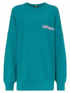 Calvin Klein 205W39nyc logo embroidered oversized cotton jumper -