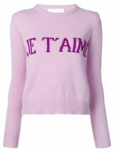 Alberta Ferretti Je T'aime sweater - Purple