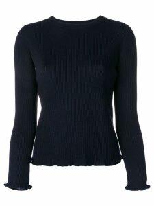 A.P.C. classic rib knit sweater - Blue