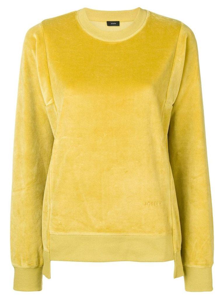Joseph velvet sweatshirt - Yellow