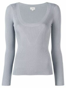 Temperley London Joan knitted top - Grey