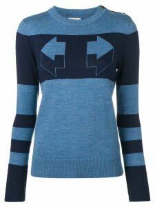 Temperley London Aggie intarsia sweater - Blue