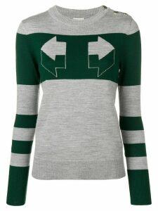 Temperley London Aggie intarsia sweater - Grey