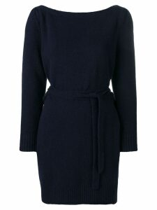 Alexa Chung wrap style knitted dress - Blue