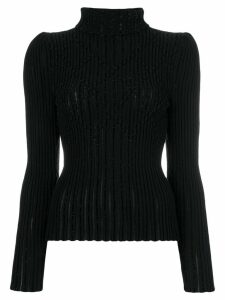 Bottega Veneta glitter wave turtle neck - Black