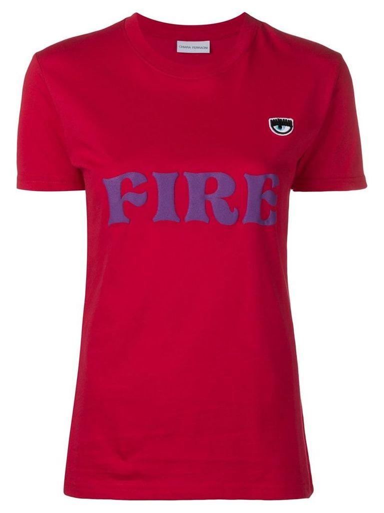 Chiara Ferragni Fire print T-shirt - Red