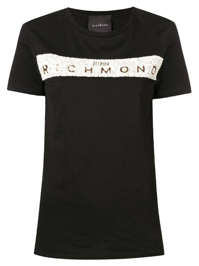 John Richmond sequin logo T-shirt - Black
