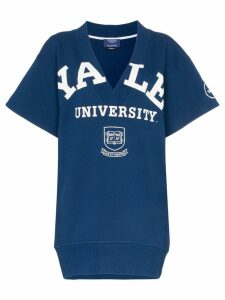 Calvin Klein 205W39nyc Yale deep V short sleeved jumper - Blue