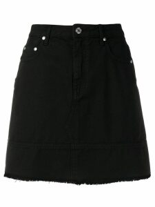 MSGM frayed bottom denim skirt - Black