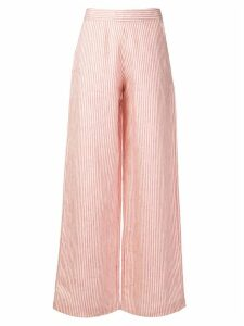 Société Anonyme striped high waisted trousers - Red