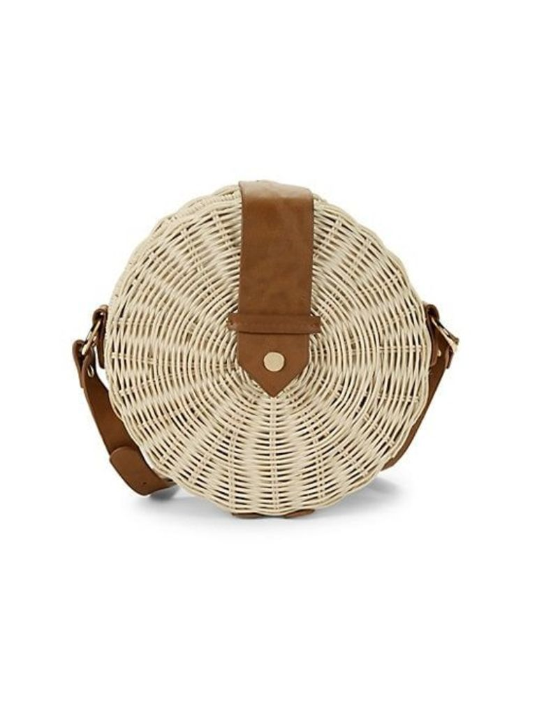 Canteen Circular Straw Crossbody Bag