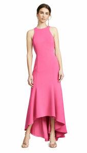 Halston Heritage Sleeveless High Neck Crepe Dress