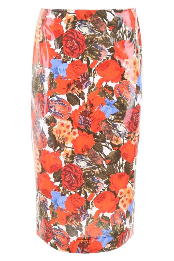 Marni Coated Skirt With Floral Print