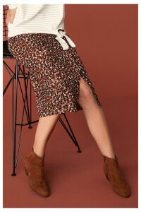 Womens Next Animal Print Button Skirt -  Animal