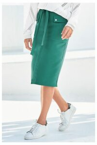 Womens Next Green Pencil Skirt -  Green