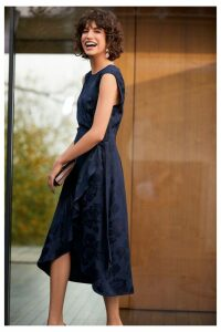 Womens Next Jacquard Dress -  Blue