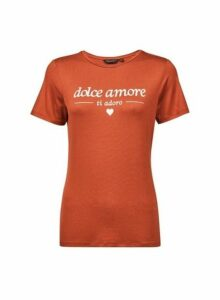 Womens Rust Dolce Amore T-Shirt- Red, Red