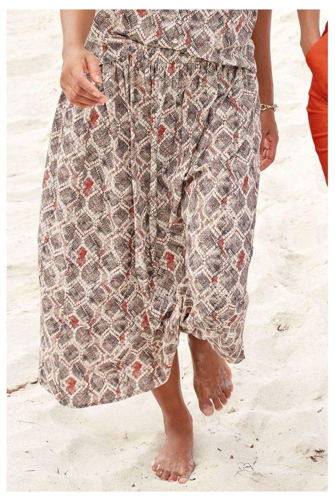 Womens Next Snake Print Skirt -  Grey