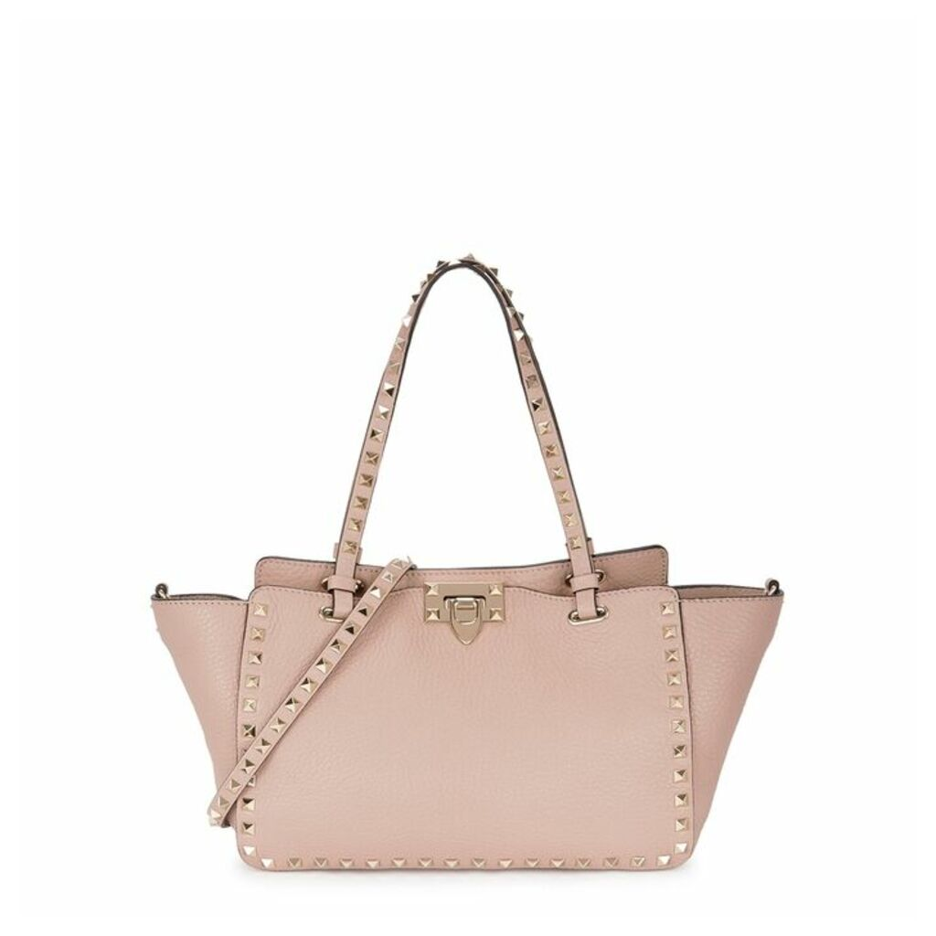 Valentino Garavani Rockstud Small Blush Leather Tote