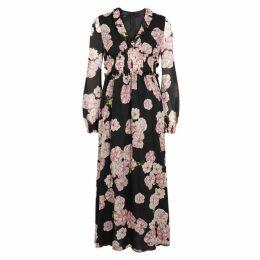 Giambattista Valli Floral-print Silk Chiffon Midi Dress