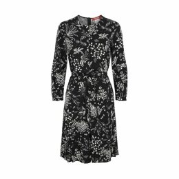 Max Mara Studio Jasmine Black Printed Dress