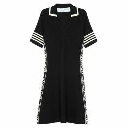 Off-White Black Logo Knitted Dress