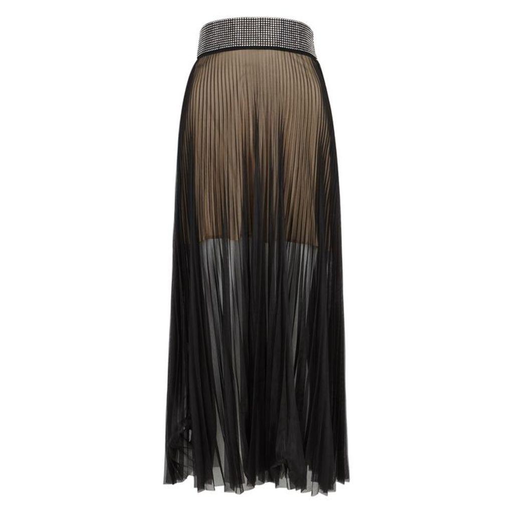 Christopher Kane Crystal-embellished Mesh Midi-skirt