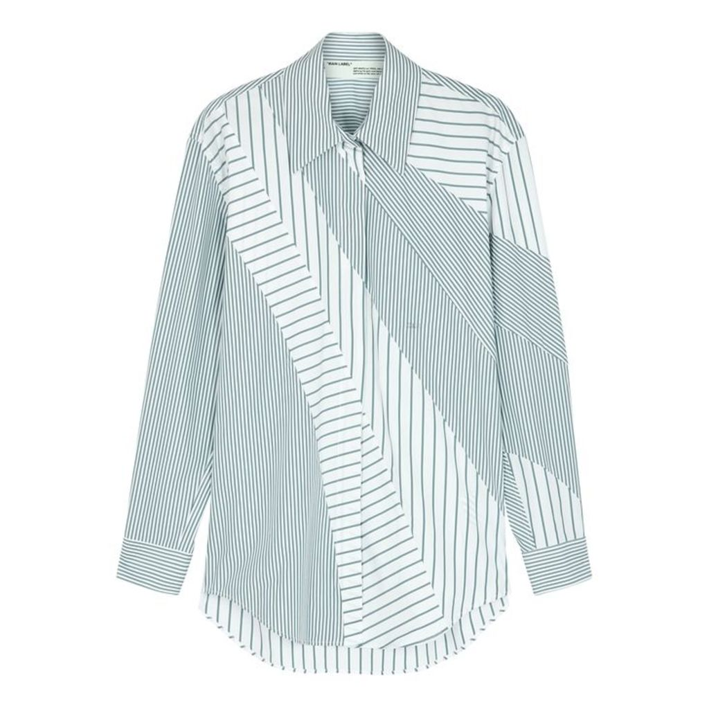 Off-White Striped Cotton-blend Shirt