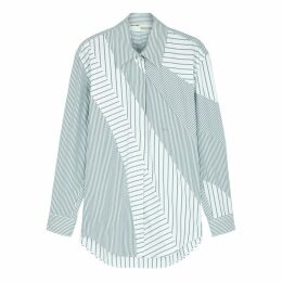 Off-White Striped Cotton-blend Shirt
