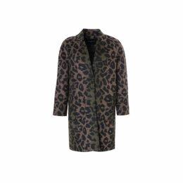 On Parle De Vous Leopard Print Coat