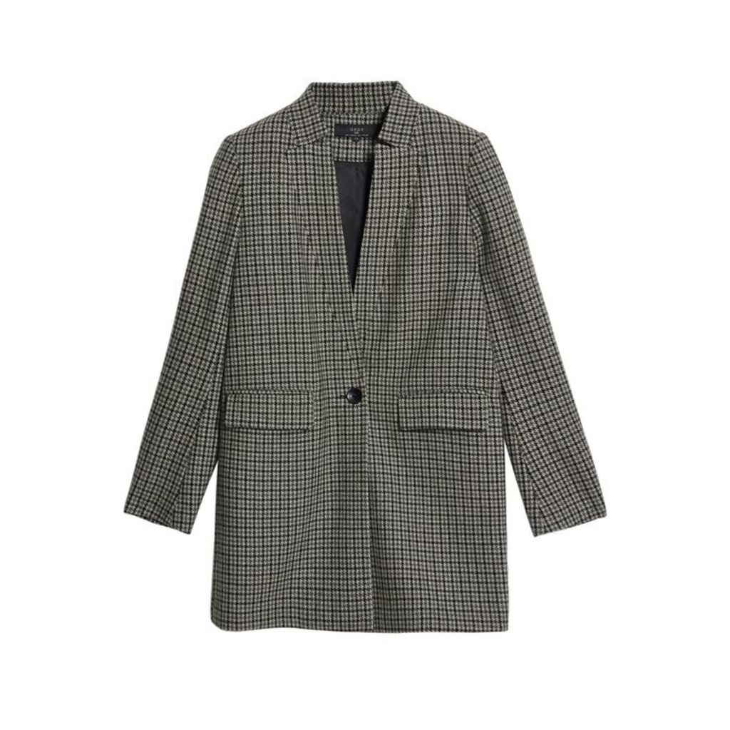 On Parle De Vous Blazer Cut Right Houndstooth