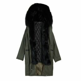 On Parle De Vous Detachable Fur Waxed Parka